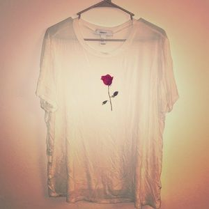 Tops - Rose plus size 1X cream off white tee forever 21
